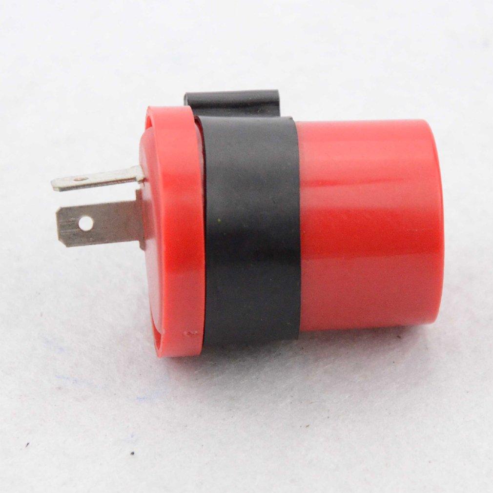 GOOFIT 12v 2 Pin Turn Signal Flasher Relay for Motorcycle Dirt Bike Blinker Red