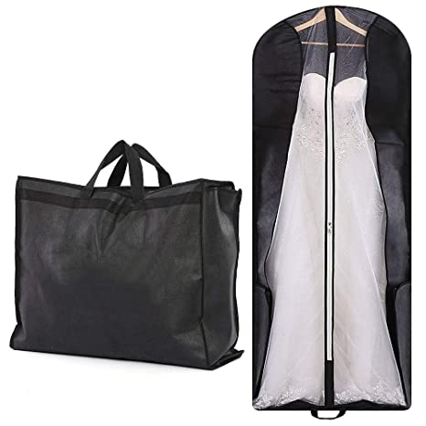 wedding dress bag with pockets wedding gown bag