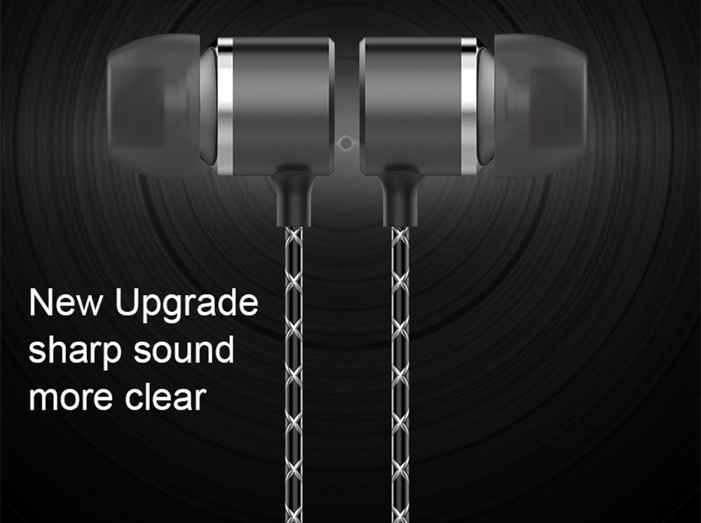 Moxil Original 3.6MM Metal in-Ear Wired Earphones HiFi Stereo Bass Earbuds Headphones with Microphone for Phone Computer Headset