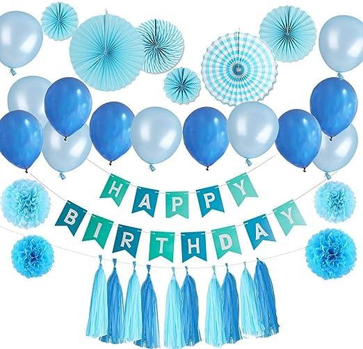 Reino Unido 5 Tejido Borlas Guirnalda Banderines De Papel Fiesta de Cumpleaños Boda Decoración De Globos
