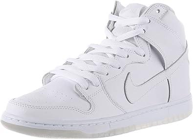 A tientas Estúpido Redondo  Amazon.com | Nike Mens Dunk High Pro SB White/White/Lt Base Grey Skate Shoe  10.5 Men US | Skateboarding