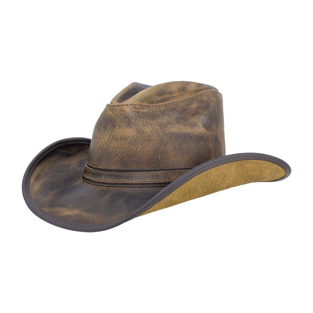 American Hat Makers Cyclone by Double G Hats Western Cowboy Leather Hat