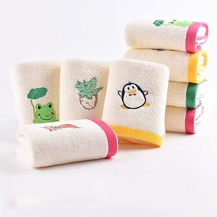 Toallas CHENGYI Microfibra de algodón Puro de Dibujos Animados pequeña para el hogar Bordado de bebé