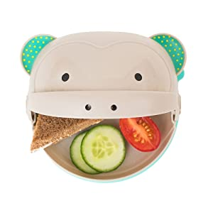 Taf Toys Mealtime Monkey – Hide & Eat Plate for Baby and Toddler. Peek-A-Boo Plate for Finger Food Eating