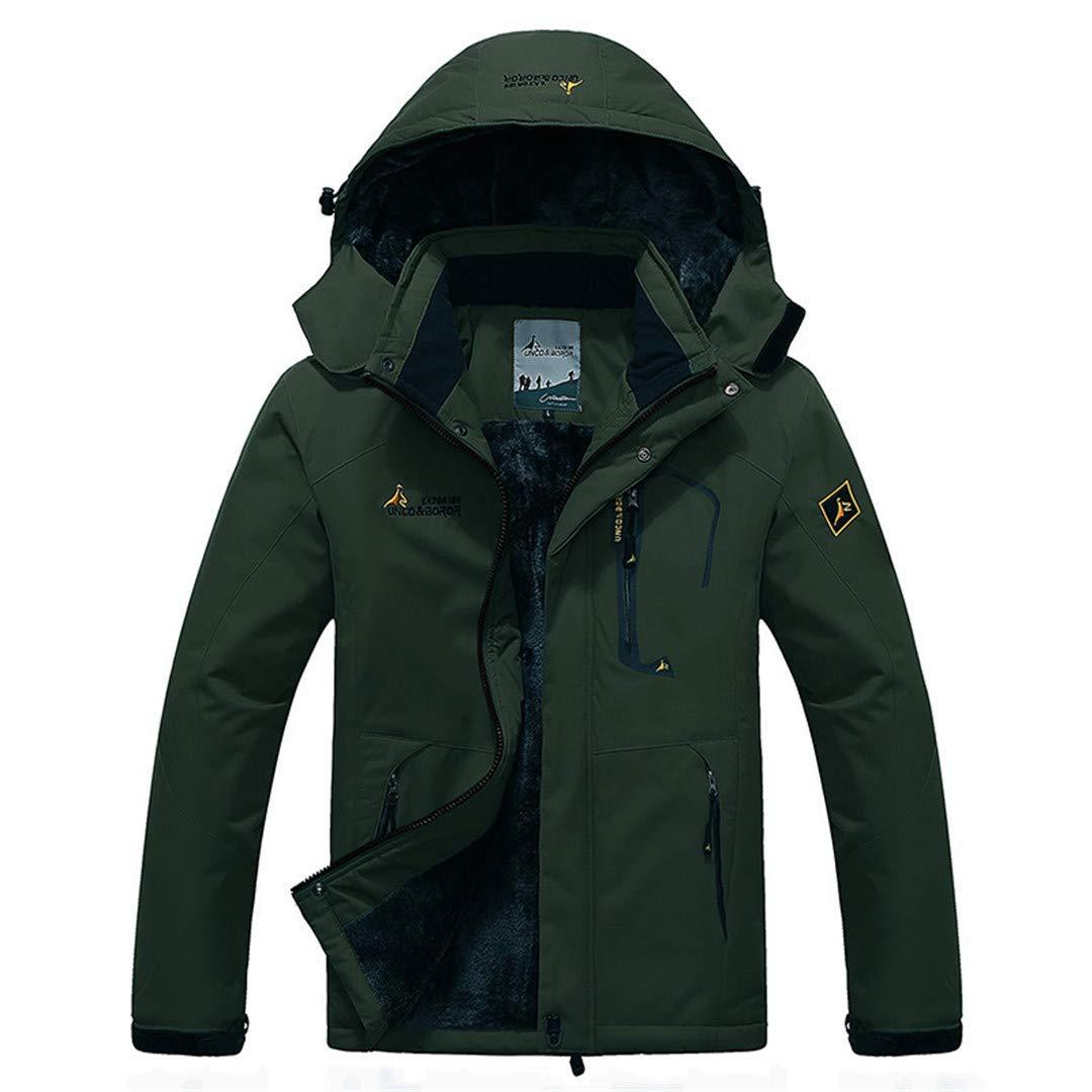 Army Green XXXLarge Large Size 9 colors Warm Outwear Winter Jacket Men Windproof Hood Men Jacket Warm Men Parkas Size L6XL