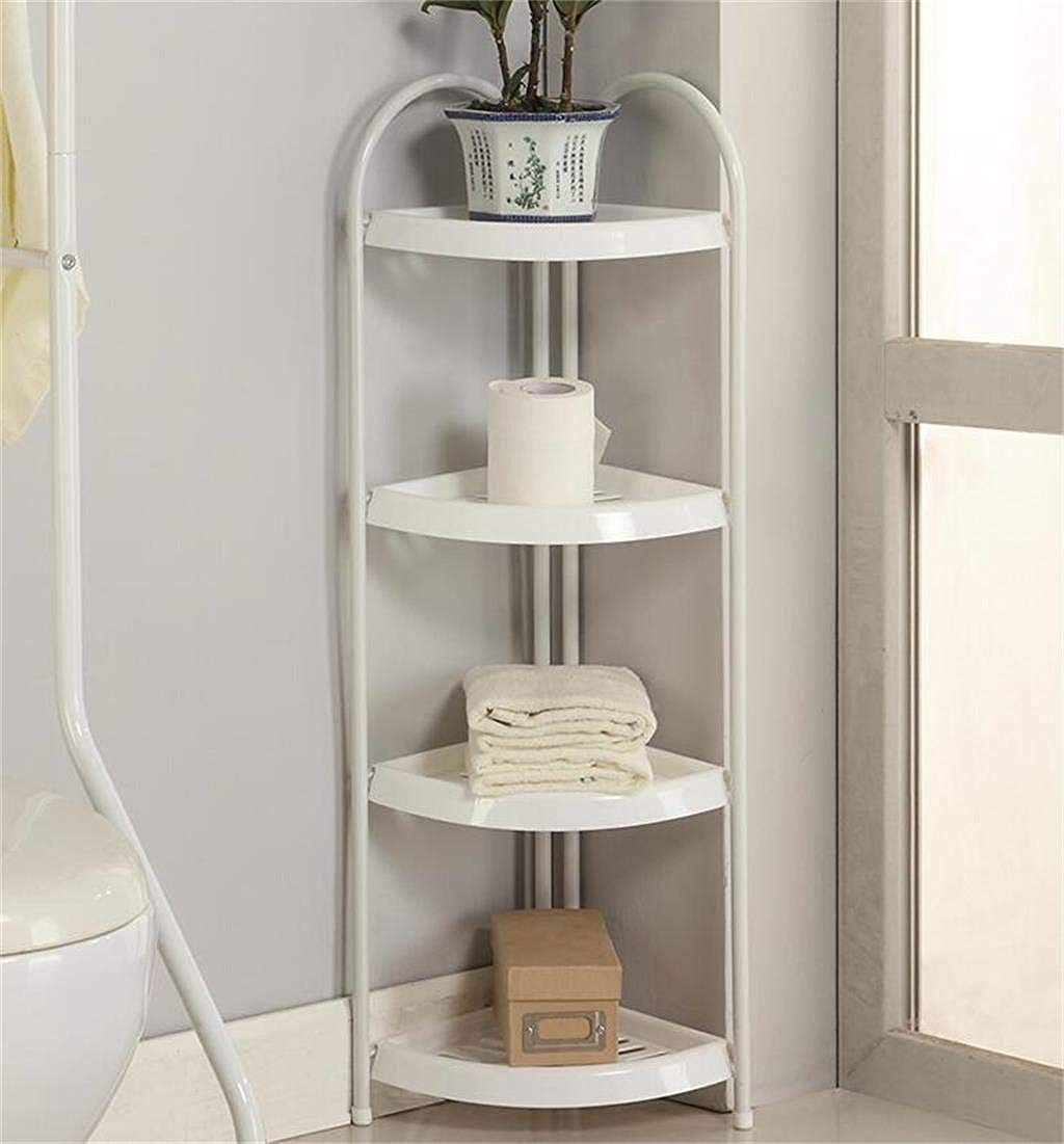 4 TIER Shower Caddy Corner Rust Proof White Shelf Kitchen Bathroom Storage Unit - Heavy Duty, Easy Fitting (4 Tier) Bathroom Item