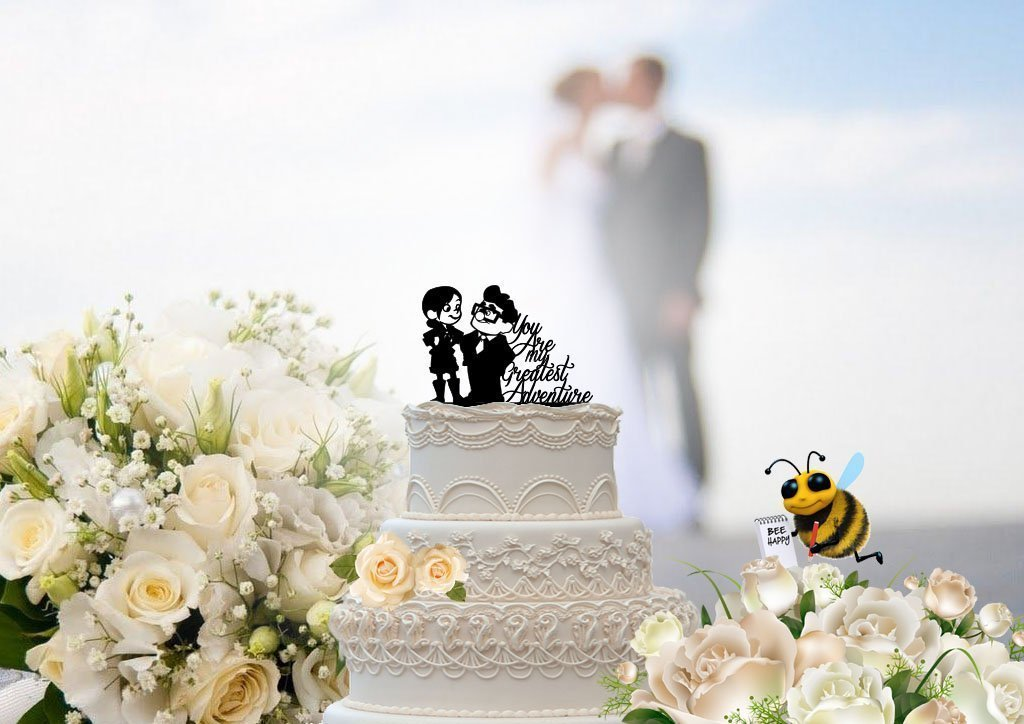 Carl and Ellie You are my Greatest Adventure Wedding Cake Topper