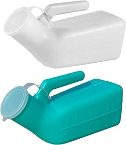 Guapie 2 Packs 1000ml/34oz Male Portable Urinal Pee Bottles Home Urinal Potty for Men