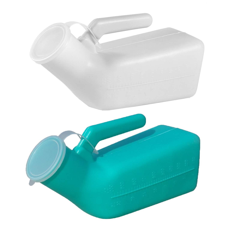 Guapie 2 Packs 1000ml/34oz Male Portable Urinal Pee Bottles Home Urinal Potty for Men by Guapie