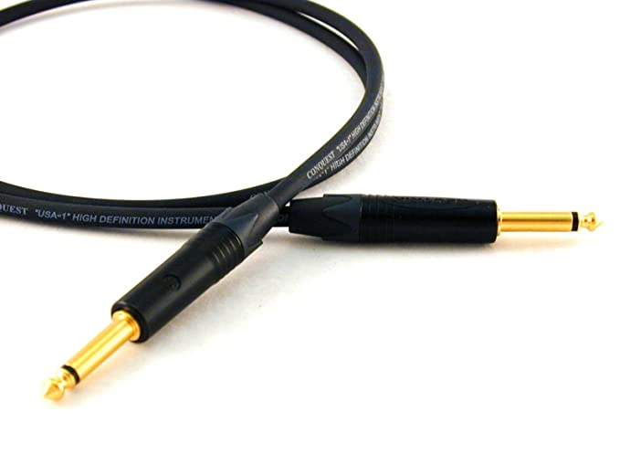Amazon.com: Conquest Sound HL 3 Hi Definition 3-Foot Guitar/Instrument Cable - Neutrik NP2X-B Black and Gold Plugs: Musical Instruments