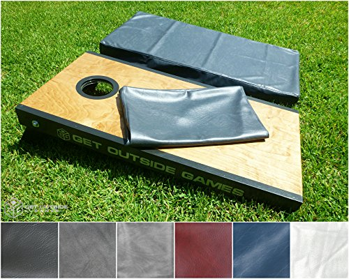 Get Outside Games Premium Cornhole Board Covers - Set of 2 For Full Size 24x48 Boards (Cornhole Covers)