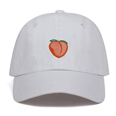 e7c1991df46 2019 New Dad Hat Leisure Fresh Fruit Cap Embroidery Hat Peach Baseball Cap  Women s Cotton Hip hop Baseball Cap at Amazon Women s Clothing store