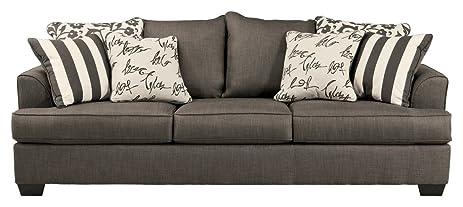 Ashley Furniture Signature Design   Levon Sofa   Classic Style   Charcoal  Gray