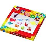Carta Origami - Box Set Scoperta - 4 tipi di Carta Origami - 40 colori assortiti - 252 fogli in totale - 15cm x 15cm
