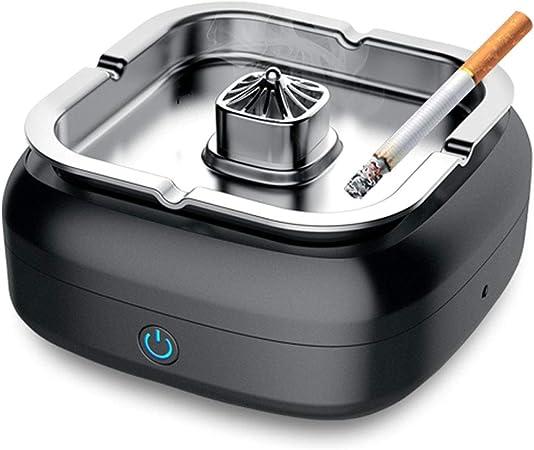HW Purificador de Aire del cenicero sin Humo, multifunción Cigarrillo del cigarro Cenicero Limpiar Humo de Segunda Mano Recargable USB for el Coche/Interior/Exterior: Amazon.es: Hogar
