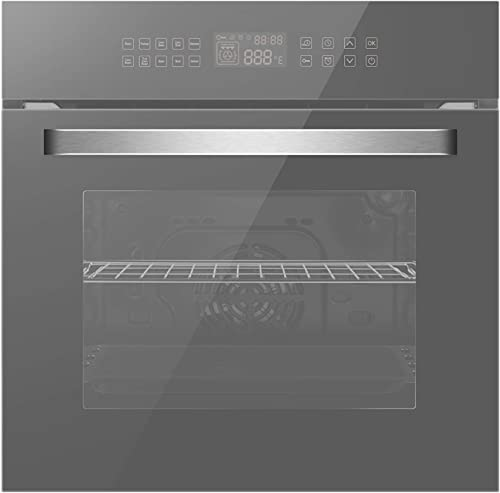 Empava 24 Inch Single Wall Oven and 36 Inch Electric Stove Induction Cooktop with 5 Power Boost Burners Smooth Surface Vitro Ceramic Glass