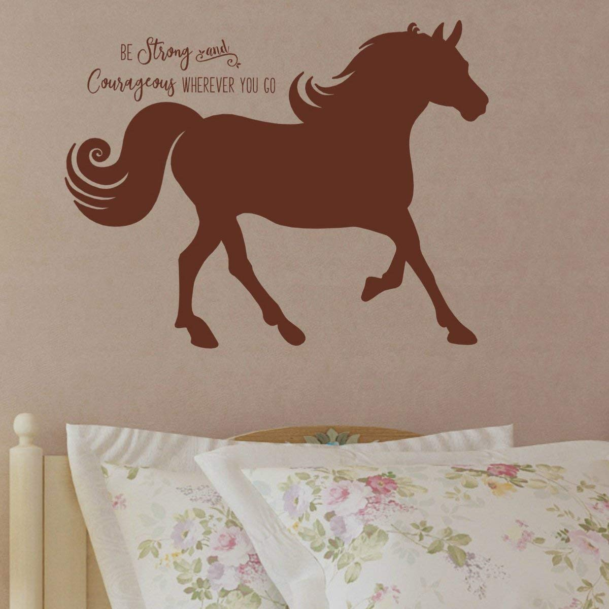 Amazon Com Horse Quote Vinyl Wall Decal Country Theme Decorations Horse Decor For Girls Room 36 X27 Brown Handmade