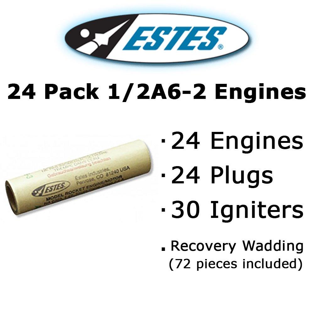 Estes 1/2A6-2 Model Rocket Engines (24 pack)