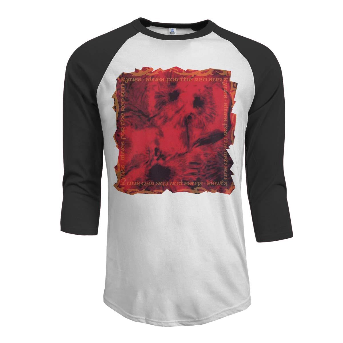JeremiahR Kyuss Blues for The Red Sun Mens 3//4 Sleeve Raglan Baseball T-Shirt Black