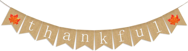 Thankful Burlap Banner | Thankful Burlap Wall Banner| Thanksgiving Banner | Rustic Thanksgiving Decoration | Fall Banner| Thanksgiving Decor