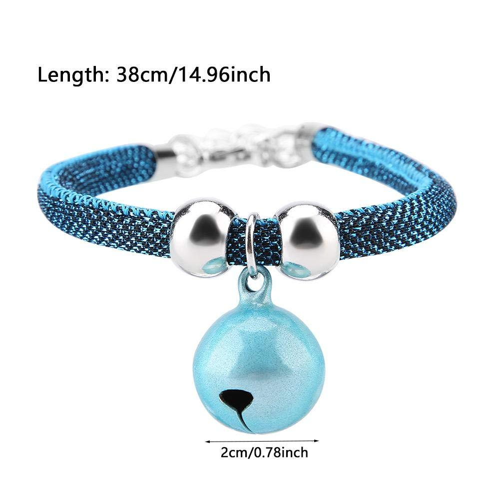 Azul Collar de Gatito de Nylon Japon/és de Estilo Suave Accesorio de Campana de Gato con Cadena de Extensi/ón Furnoor Collar para Mascotas