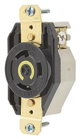 Hubbell HBL 2610 30A 125V Twist-Lock Receptacle L5-30R New