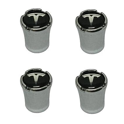 Modern Design 4pcs Black Auto Car Wheel Tire Air Valve Caps Tire Decoration For Tesla Car Model
