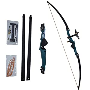 Right Handed * Starter Pack 3 Jet Core Archery Green 66 Recurve Bow Take Down Set