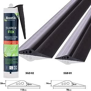 STEIGNER Junta de Garaje con Adhesivo de Montaje Umbral de Garaje de EPDM 4 m 20 mm x 112 mm SGD02: Amazon.es: Bricolaje y herramientas
