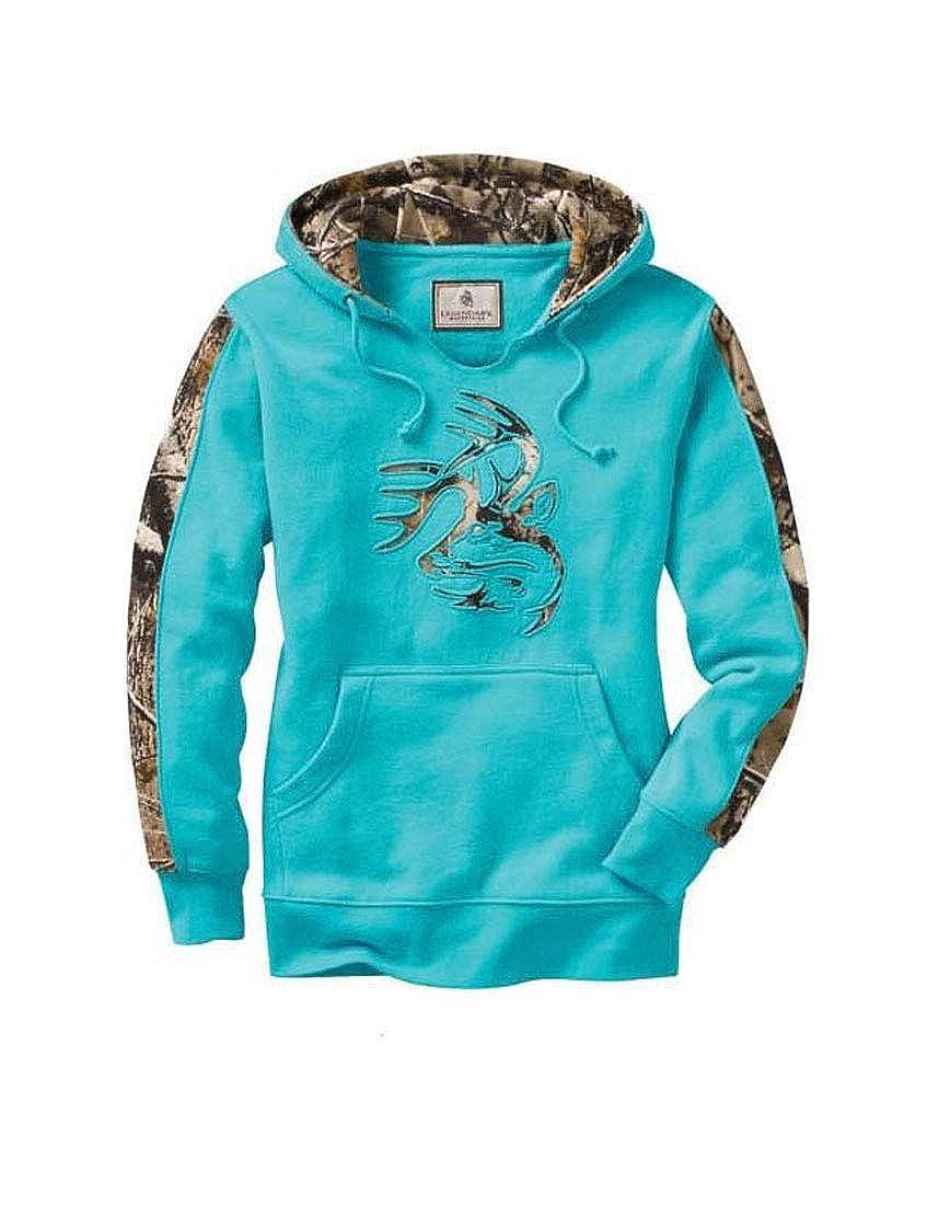 YUNY Womens Multi Color Tie-Dye Pocket Drawstring Stylish Pullover Hood Printed Plus Size Coat Blue M