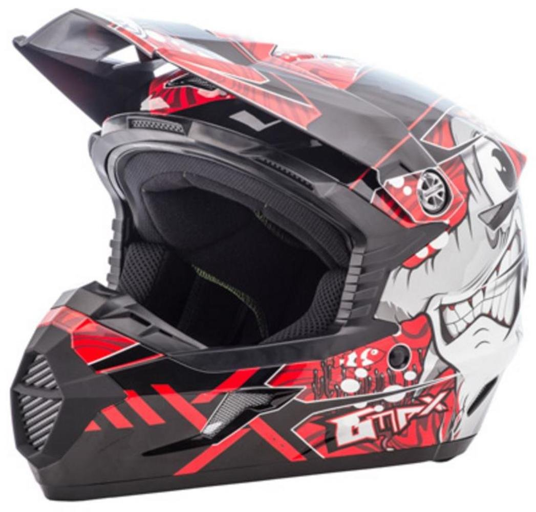 GMAX Unisex-Adult Full-face Style G3468202 TC-1 Mx46 Hooper Helmet Black//Red yl Youth Large