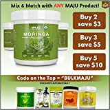 MAJUs Organic Moringa Powder: NON-GMO, Guaranteed Purest, 100% Raw Moringa by Maju Superfoods
