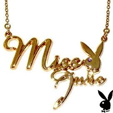 Playboy Gold Plated Miss April Necklace lZiGHBGrq0