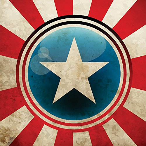 - JP London CNVSQM2423 Gallery Wrap Canvas 2In Thick Heavyweight Gallery Wrap Canvas Wall Art Captain America Shield Superhero Avengers At 22In By 22In