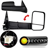 ECCPP Tow Mirrors for 2002-08 Dodge Ram 1500 2500 Pickup Power Heated Towing Side Mirrors Pair Set Passenger & Driver Side View