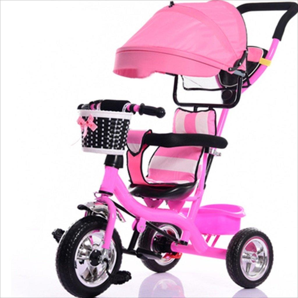 子供用屋内屋外小型三輪車自転車の男の子の自転車の自転車7ヶ月-6歳の赤ちゃんの3つのホイールトロリー、天幕、泡ホイール/後輪ダブルブレーキ (色 : 3) B07DVZ6YV83