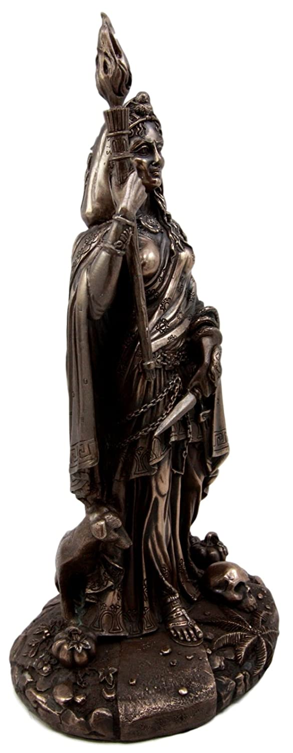Atlantic Collectibles Greek Goddess of Magic Witchcraft Necromancy Hekate Hecate with She-Dogs Decorative Figurine 10.75 H