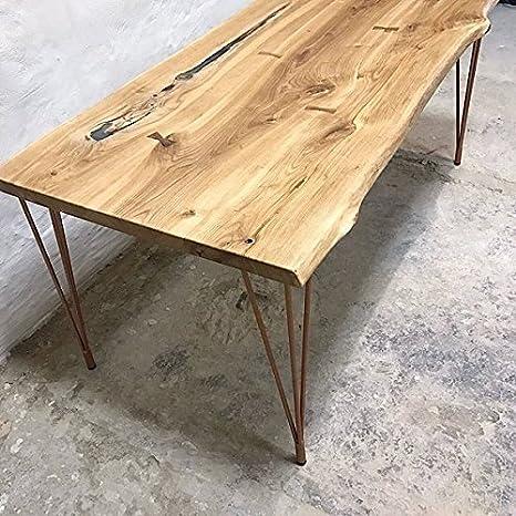 CosyWood Stile Industriale Rustico Tavolo da Pranzo con Gambe in ...