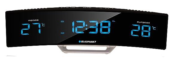 Blaupunkt CR12BK Radiodespertadores con LED-Display, Alcance (Dentro y Fuera)