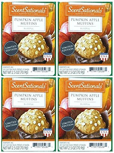ScentSationals Pumpkin Apple Muffins Wax Cubes - -
