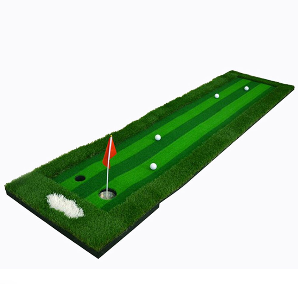 FUNGREEN 75X300CM Golf Putting Green System Professional Practice Indoor/outdoor Backyard Golf Training Mat Aid Equipment with 3 Colors Grass by FUNGREEN (Image #3)