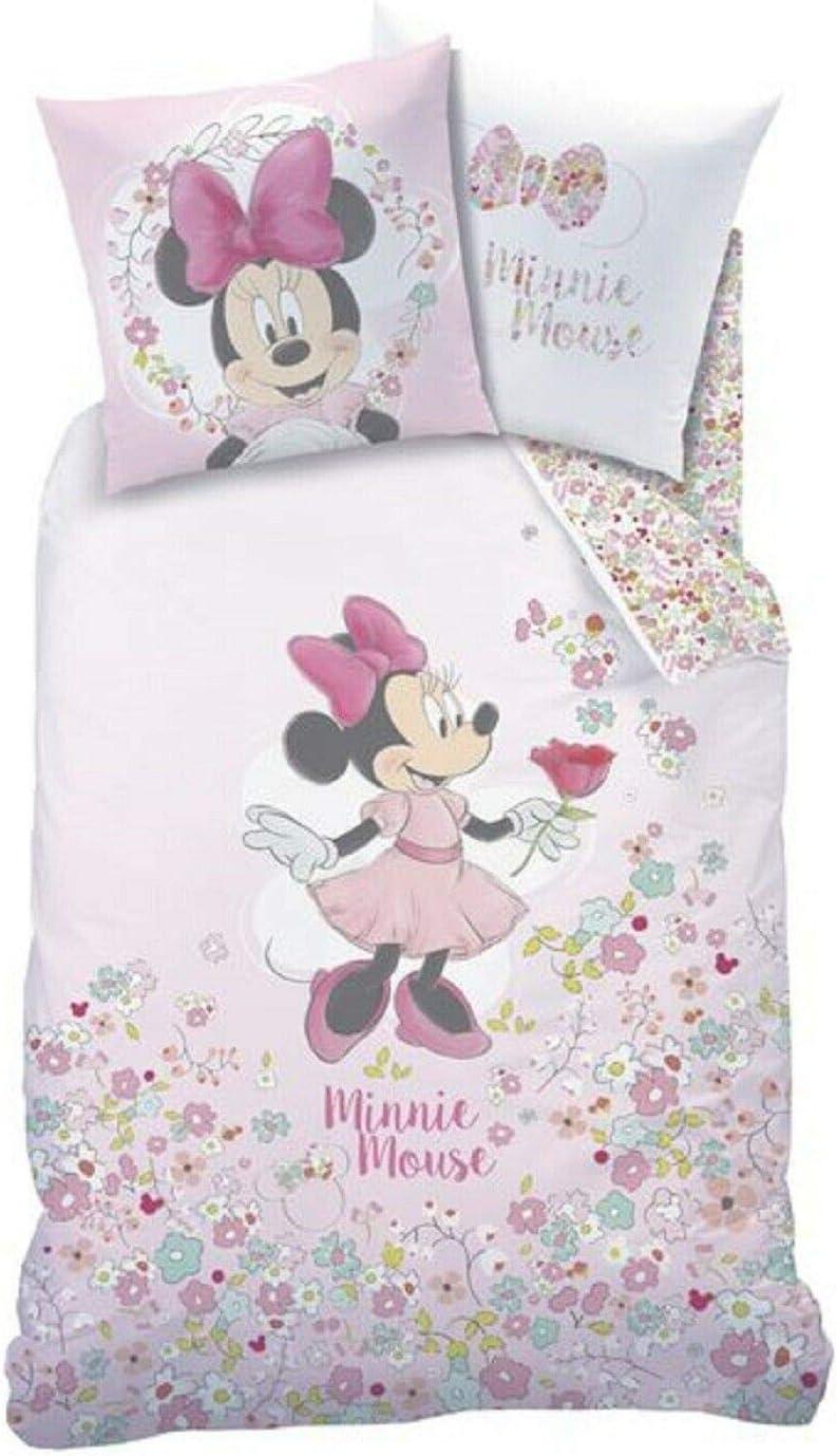 Herding Disney Minnie Mouse ni/ños peque/ños de Juego de Cama Blanco//Rosa algod/ón 135/x 100/cm