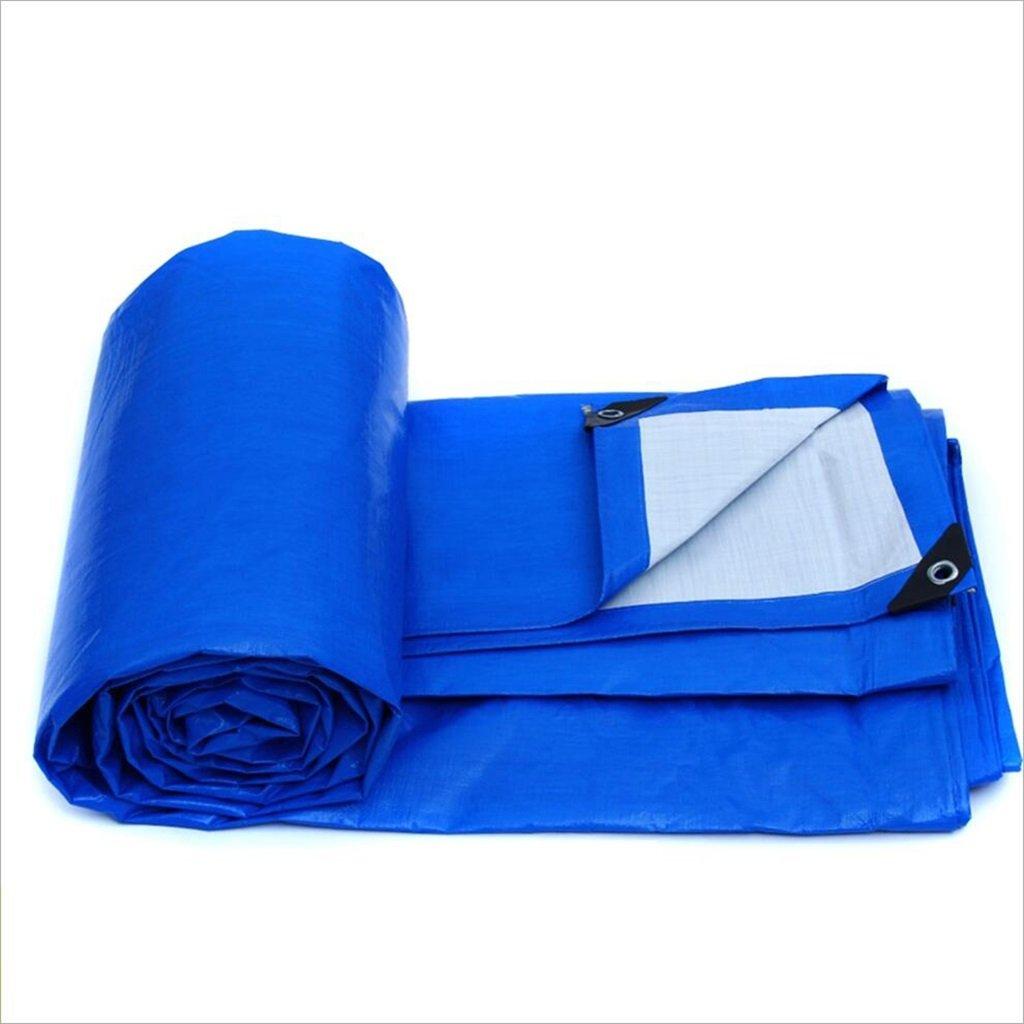 DNSJB Outdoor Regen Camping, Tuch, Schatten Sonne, Geeignet für Zelte, Camping, Regen Eine Vielzahl von Größen, Blau, Hochwertige Plane (Größe   3m × 4m) fe7102