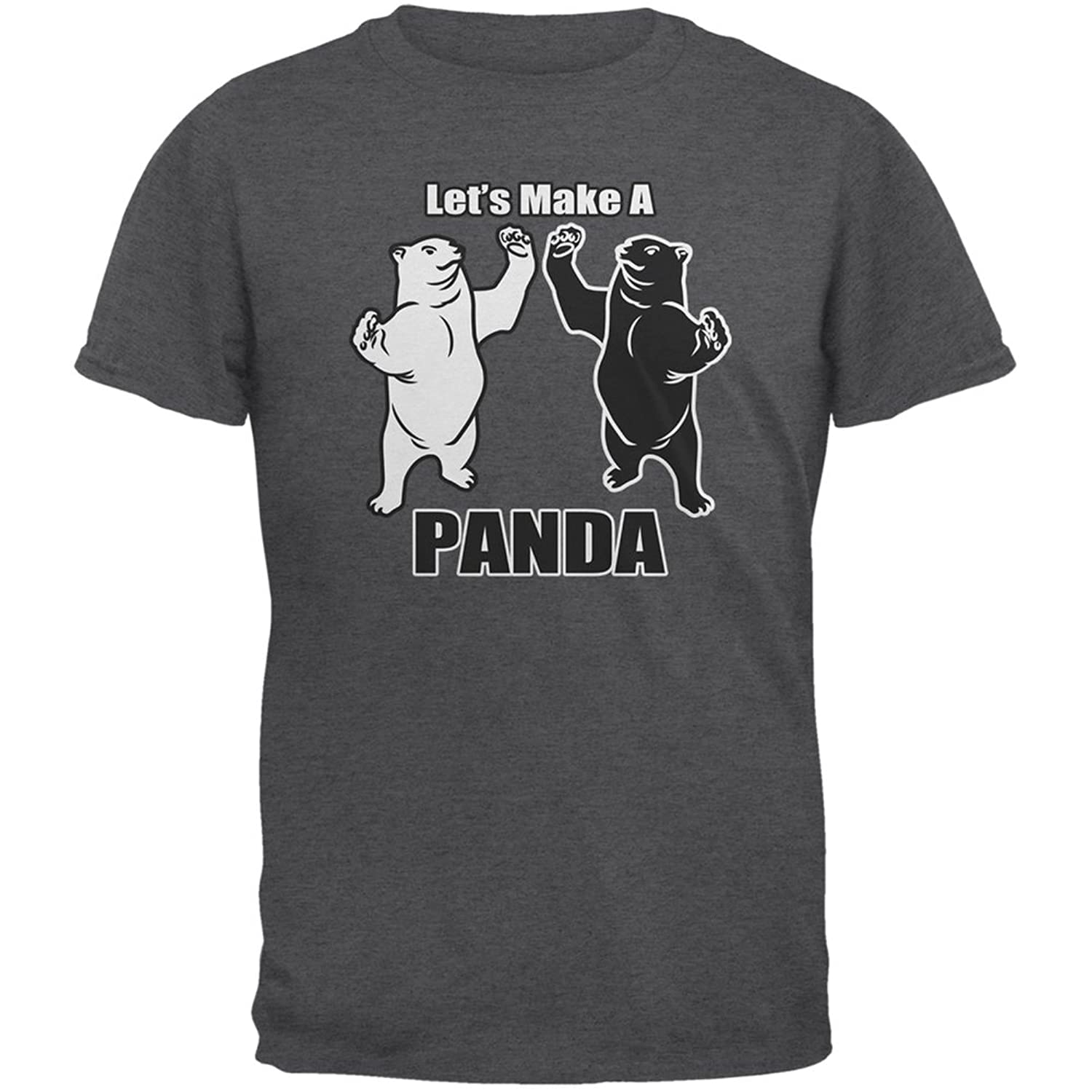 Amazon Let s Make A Panda Funny Dark Heather Adult T Shirt