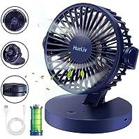 HueLiv Ventilador de Mesa, Ventiladores USB con Batería Recargable Ventilador Pequeño de…
