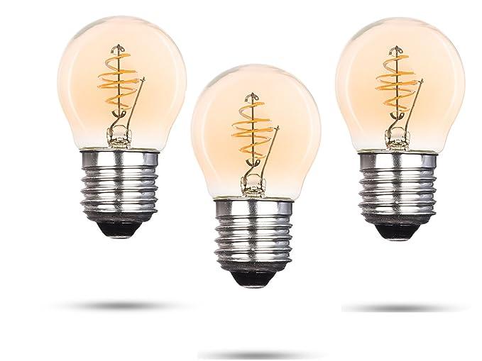 Juego de 3 Bombilla LED Globe, con filamento LED 3 vatios/150 lúmenes/