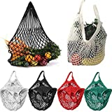 Reusable Shopping Bag, Paymenow Mesh Net Turtle Bag Storage Handbag Totes Ecology Market String Bag for Grocery Shopping Beach Storage Fruit Vegetable Toys Lightweight Shopping Bag (Red)