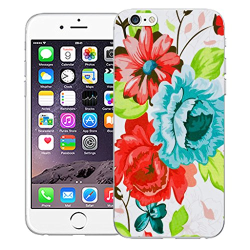 """Mobile Case Mate iPhone 6 4.7"""" Silicone Coque couverture case cover Pare-chocs + STYLET - Blue Pompon pattern (SILICON)"""