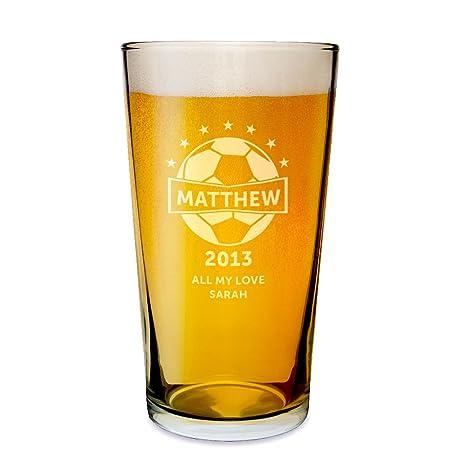 Vaso de cerveza, fútbol - un regalo perfecto para cumpleaños ...