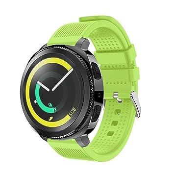 para samsung gear sport correa Sannysis Samsung Gear correas y conector de banda de samsung gear sport 2017 samsung gear sport smartwatch blue ...